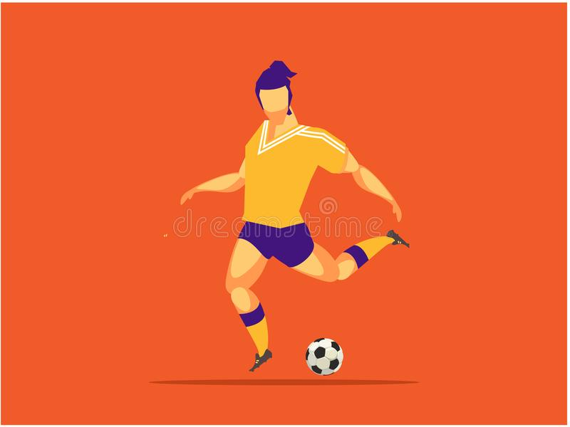 Soccer player sports stock illustration