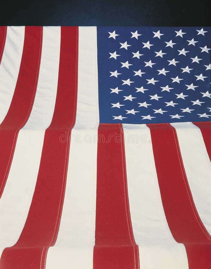 Vertical view of American Flag royalty free stock photography