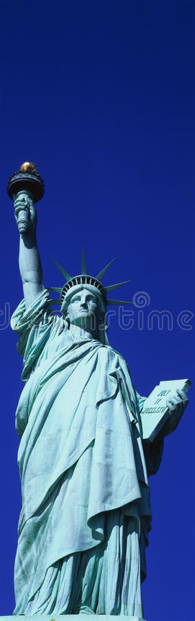 Vertical View Of Statue Of Liberty Royalty Free Stock Photos