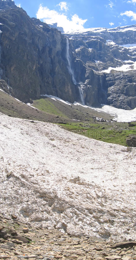 Download Vertical View Of The White Glaciers Stock Image - Image: 16526233