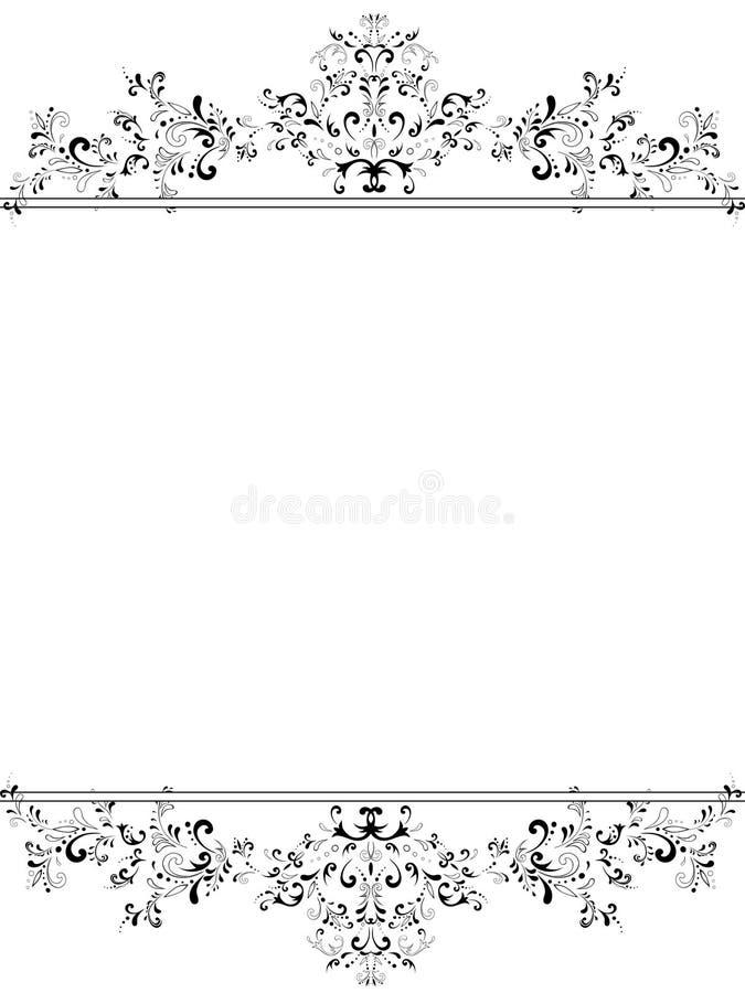 Free Vertical Vintage Floral Frame Stock Images - 12789814
