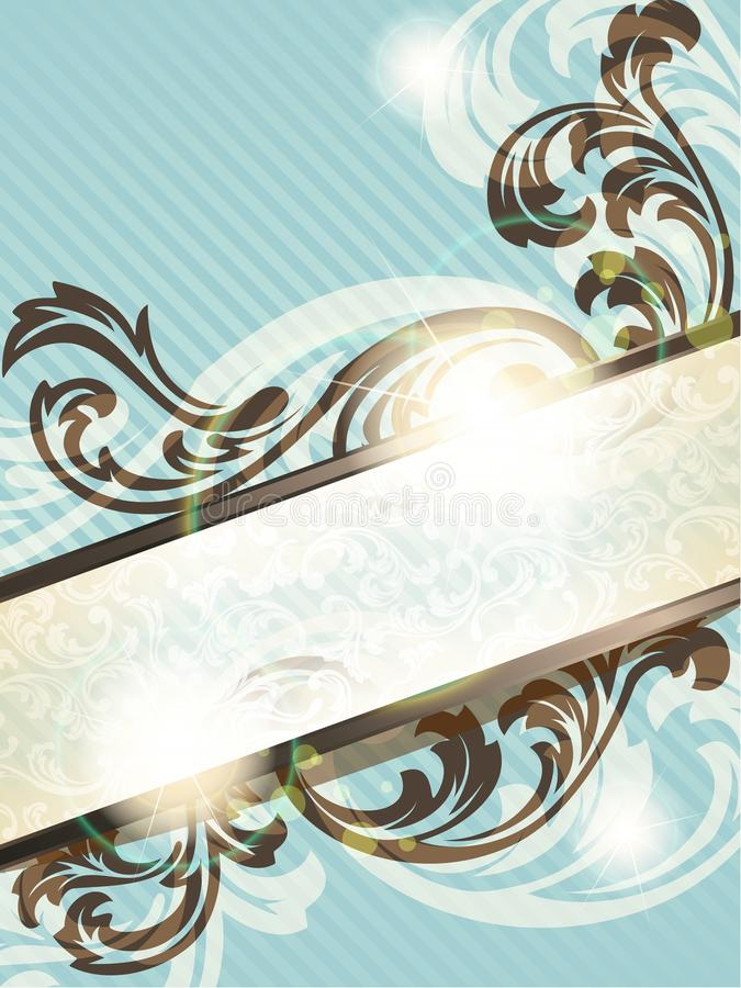 Download Vertical Vintage French Retro Banner Stock Vector - Image: 20094330