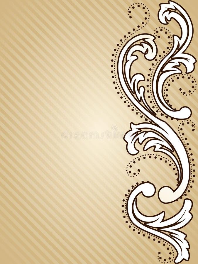 Vertical vintage sepia background vector illustration