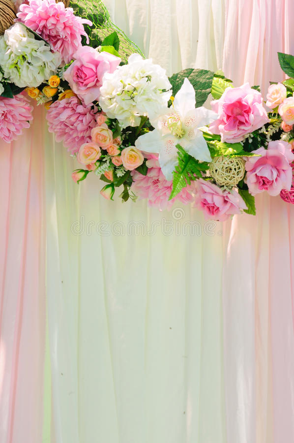 Vertical wedding scene background stock photos