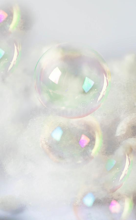 Vertical white bubble wall . Summer Bubbles stock photography
