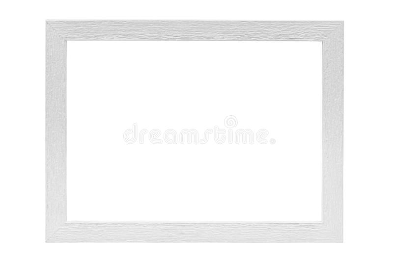 White wooden picture frame stock images