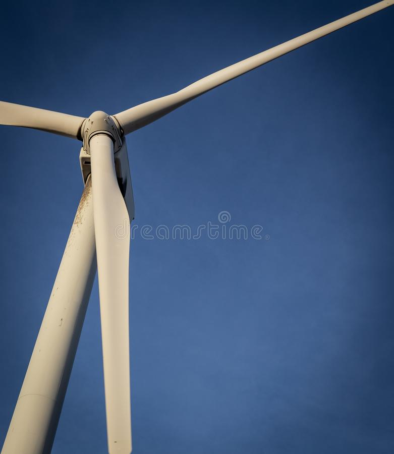 Vertical Wind Turbine. For sustainable energy stock photo