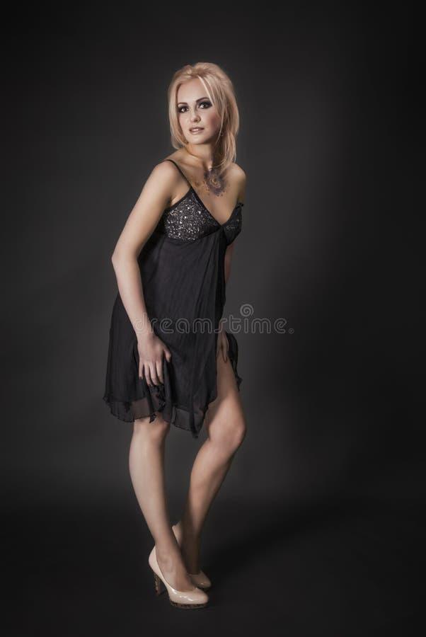 Verticale élégante de femme blondy image libre de droits