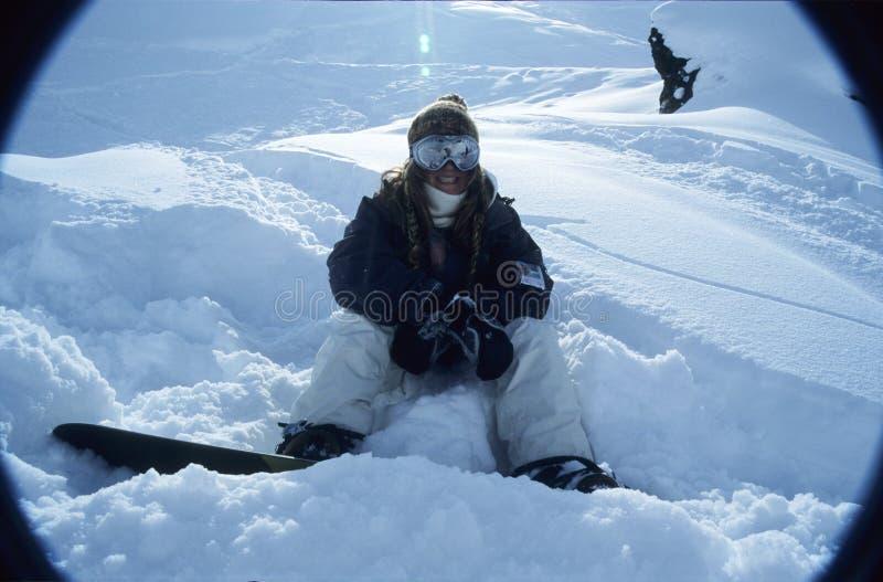 Verticale 1 de Snowboarder image libre de droits