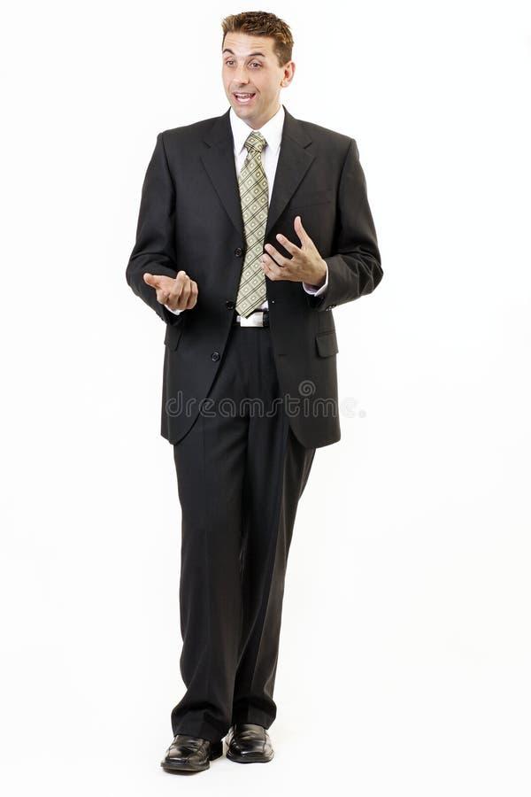 Verticale 5 d'homme d'affaires photos libres de droits