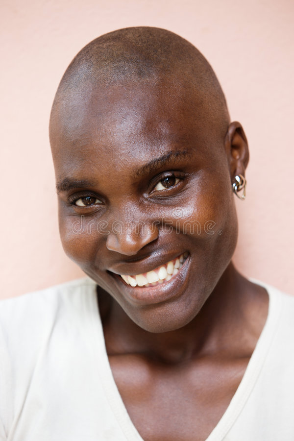 Verticale africaine de femme photographie stock