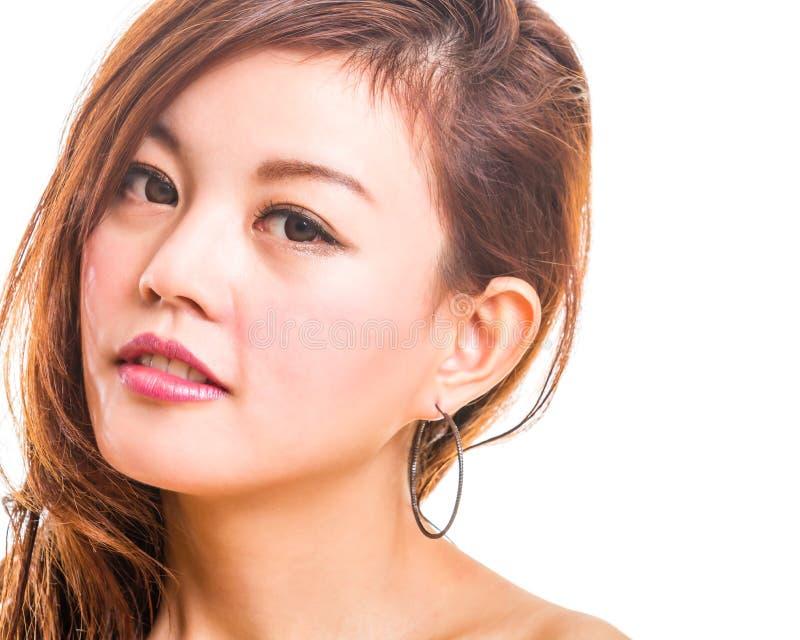 Verticale asiatique de beauté de femme photo stock