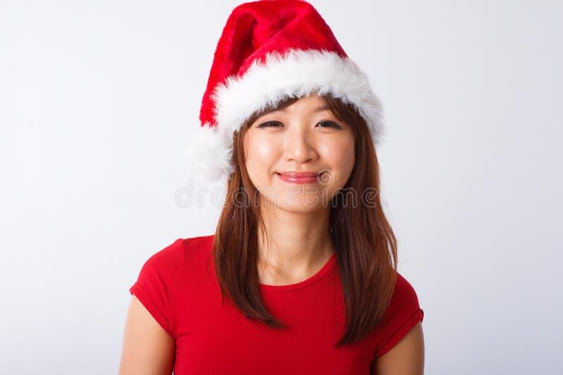 Verticale asiatique de fille de Noël photo libre de droits