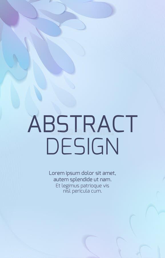 Verticale banner met document multilayer uitbarstingen van water en dalingen, besnoeiing van document 3d plonsvloeistof Vector Ma stock illustratie