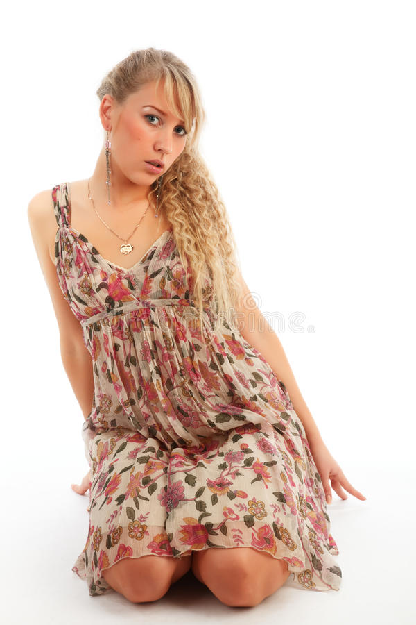 Verticale blonde photo stock