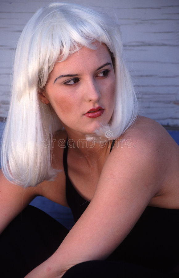 Verticale blonde photographie stock