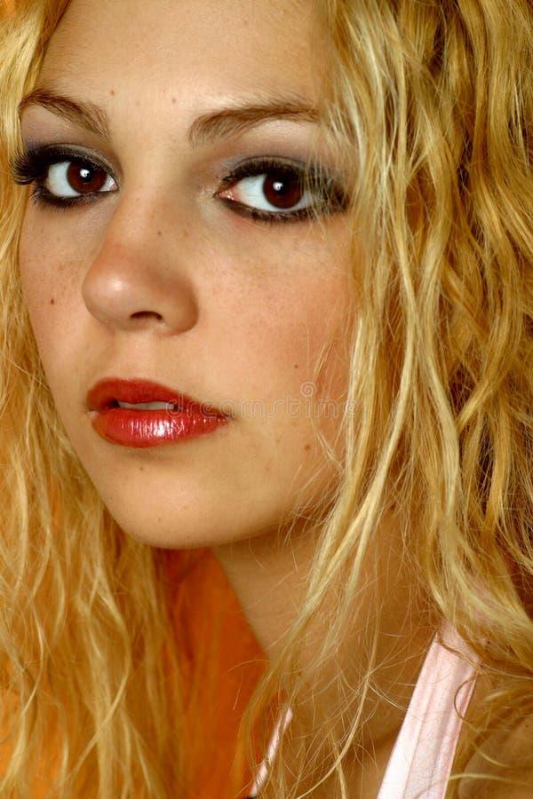 Verticale blonde photos libres de droits