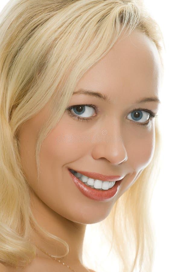 Verticale blonde de fille de beauté images stock