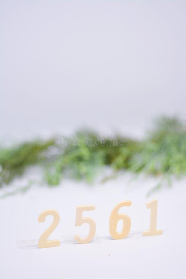 Verticale buddista di era 2561 di celebrazione fotografie stock