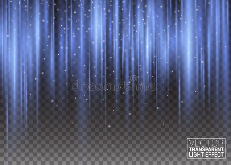 Verticale che ondeggia i raggi pulsanti Fondo astratto di vettore della porpora e della viola di Aurora Borealis Light Effect Col illustrazione vettoriale