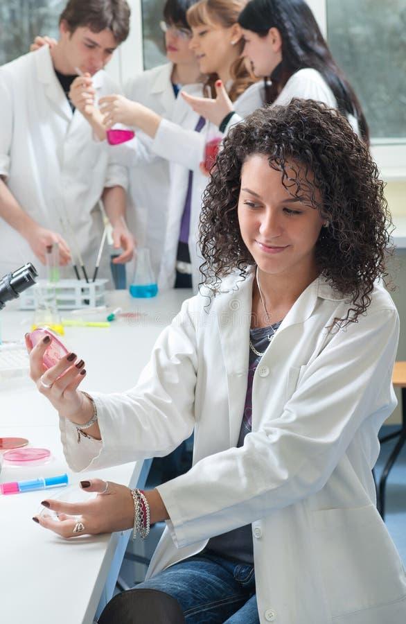 Verticale d'étudiant en médecine image libre de droits