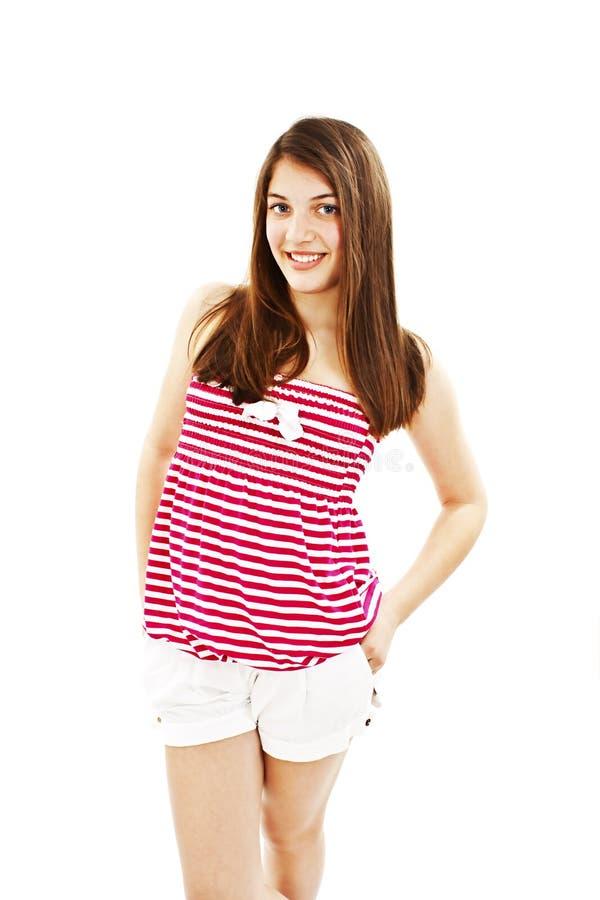 Verticale d'adolescente heureuse de fille photo stock