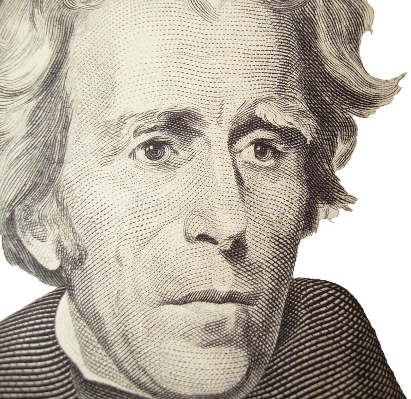 Verticale d'Andrew Jackson photographie stock