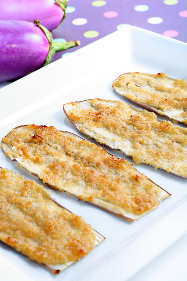 Verticale d'apéritif de miso d'aubergine image stock
