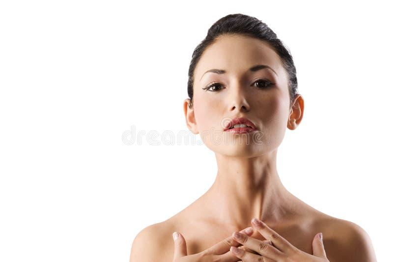 Verticale d'Asiatique de beauté images stock
