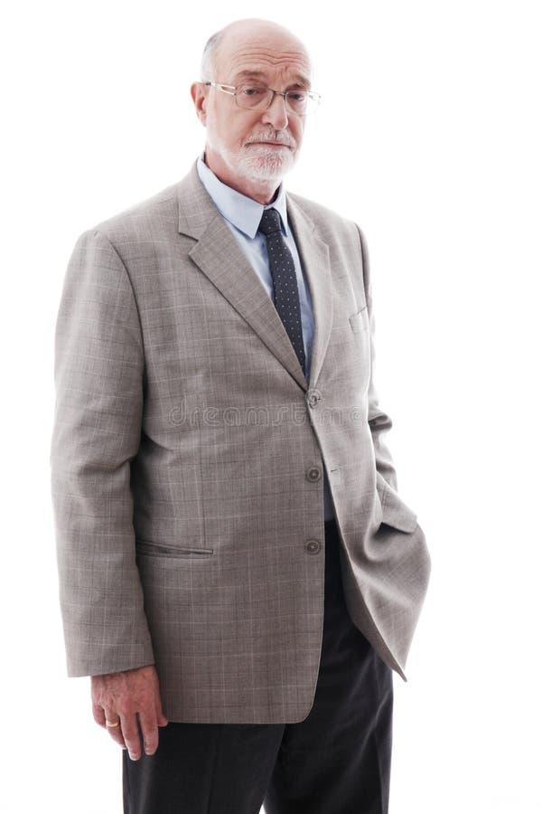 Verticale d'homme aîné d'affaires photo stock