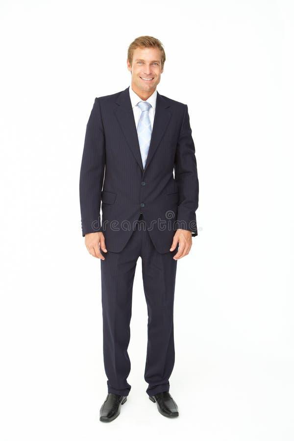 Verticale d'homme d'affaires dans le procès photos stock