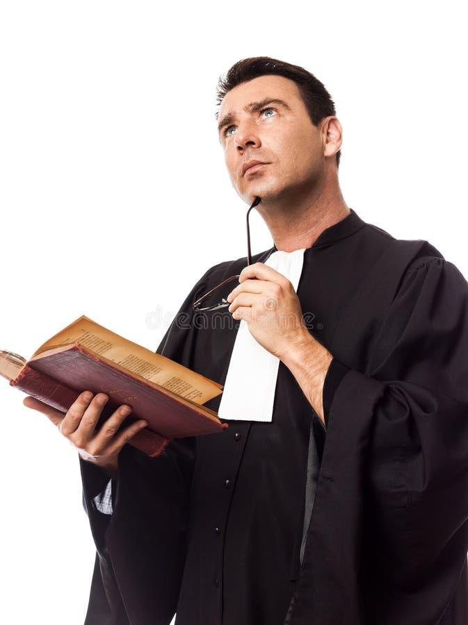 Verticale d'homme d'avocat image libre de droits