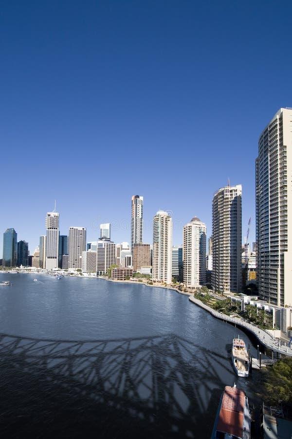 Verticale d'horizon de ville images libres de droits