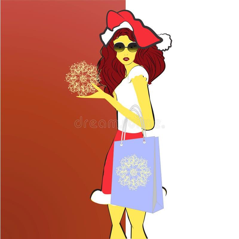 Verticale d'un beau chri s'usant de jeune femme illustration libre de droits