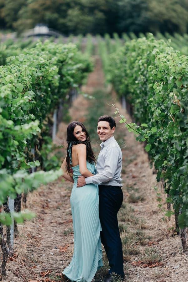 Verticale d'un beau couple de mariage photographie stock libre de droits