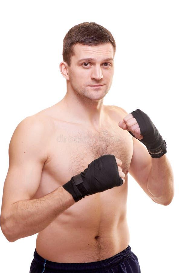 Verticale d'un boxeur d'énergie photographie stock libre de droits