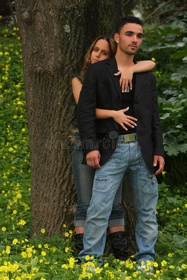 Verticale d'un couple photographie stock