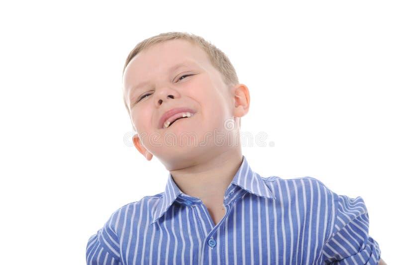 Verticale d'un garçon heureux photos libres de droits