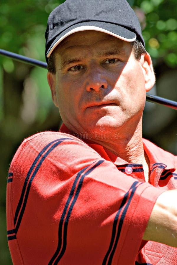 Verticale d'un golfeur image stock