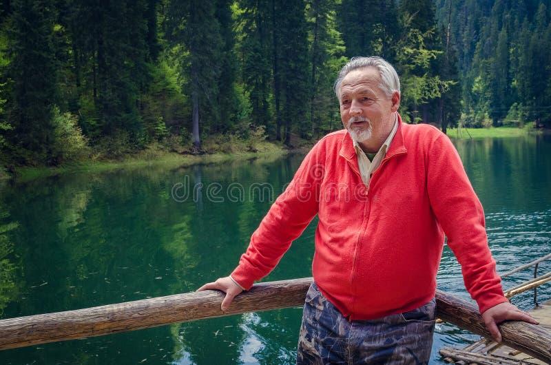 Verticale d'un homme aîné images stock