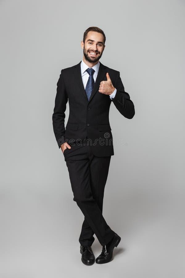 Verticale d'un homme d'affaires bel confiant photo stock