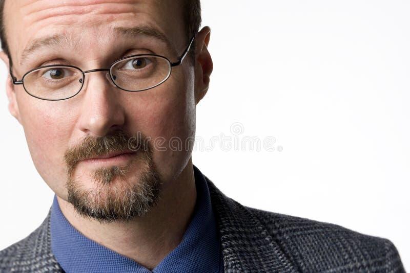 Verticale d'un homme chauve photos stock