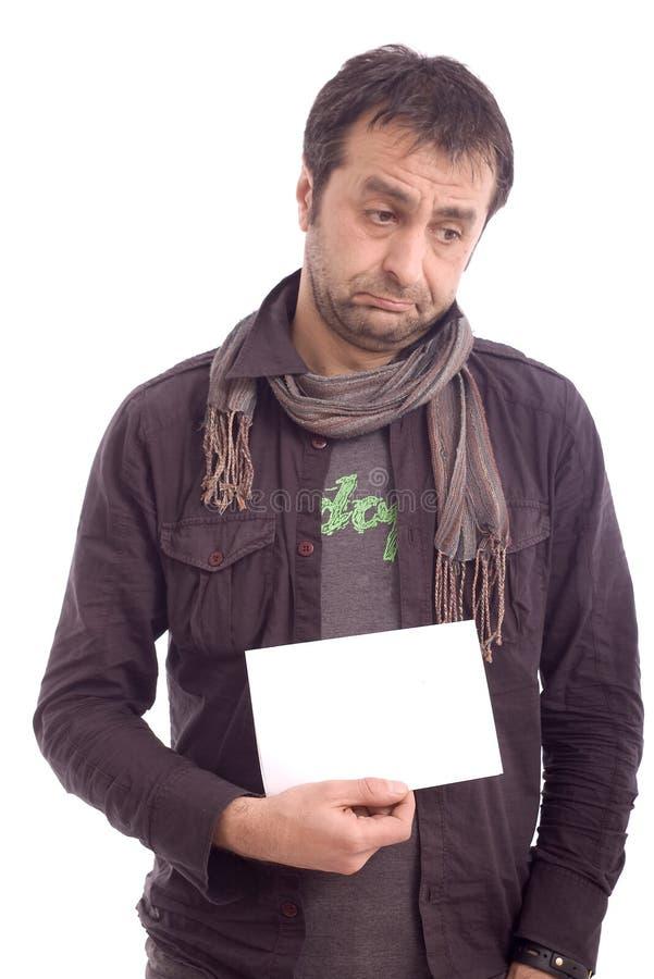 Verticale d'un homme de regard triste photo stock