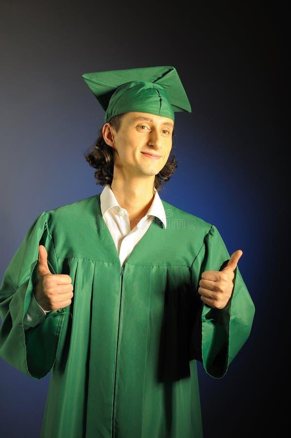 Verticale d'un homme réussi son de remise des diplômes image libre de droits