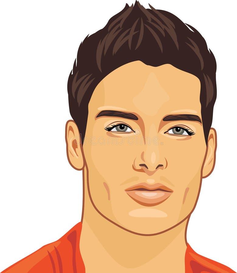 Verticale d'un jeune bel homme illustration stock