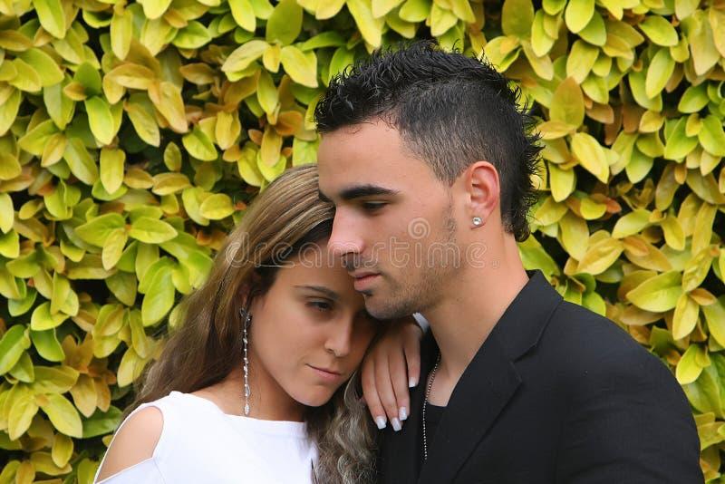 Verticale d'un jeune couple photos stock