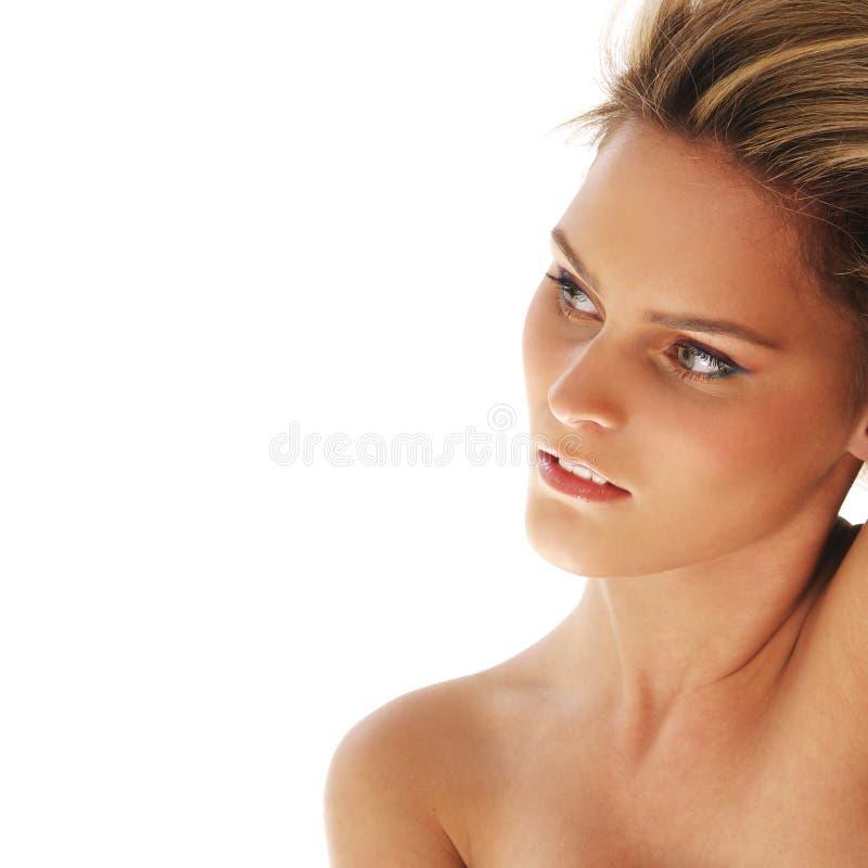 Verticale d'un jeune et beau blond photos libres de droits