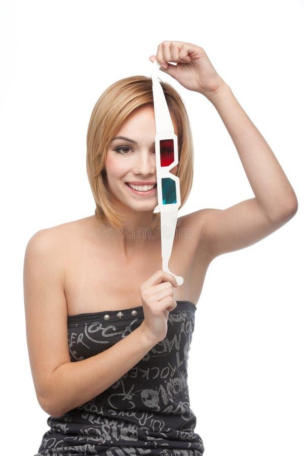 Verticale d'un jeune femme jouant avec les glaces 3d illustration stock