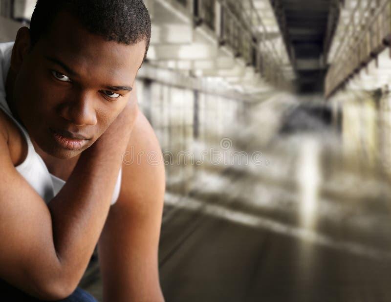 Verticale d'un prisonnier photographie stock libre de droits