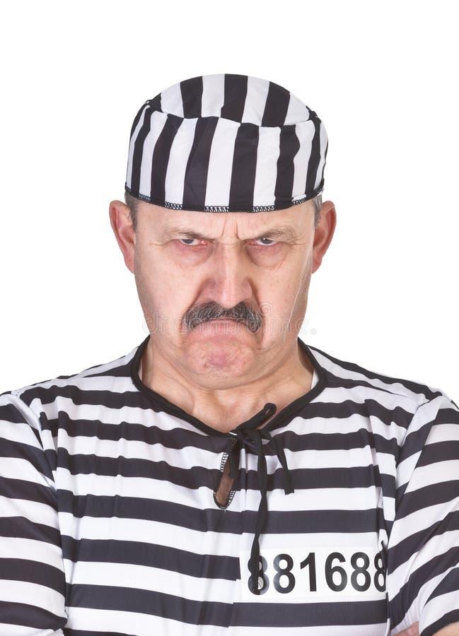 Verticale d'un prisonnier fâché image stock